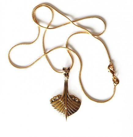 Viking drakeskip bronse