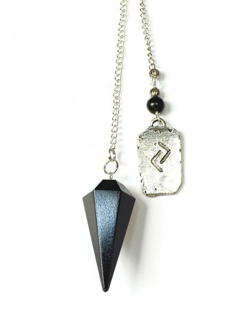 Runependel svart agat